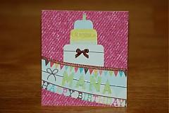 Papiernictvo - Blahoželanie k narodeninám -  Torta - 1117693