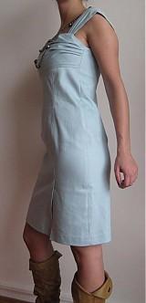 Šaty - AKCIAA Šaty imitácia rifloviny - 1121465