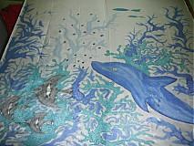 Šatky - šatka delfín - 113664