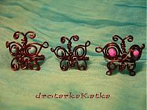 Prstene - motýlkový prstienok - 11411