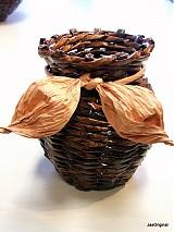 Dekorácie - Paplet- vázička na sušené kvety - 1145034
