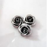 - Kovová ružička strieborná - 1147745