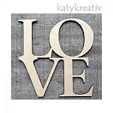 Tabuľky - LOVE nápis 20cm - 1149151