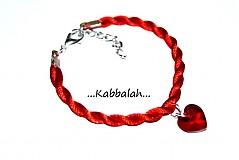 Náramky - kabbalah náramok - SW srdce siam AB - 1151754