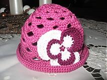Detské čiapky - Fialový klobúčik - 1163362