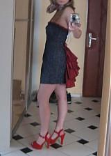 Šaty - Riflové extravagantné koktejlky - 1168164