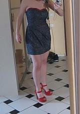 Šaty - Riflové extravagantné koktejlky - 1168171