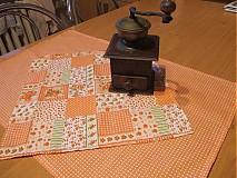 Úžitkový textil - jar v oranžovej - 1168895