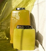 "Dekorácie - Váza hranatá zelená  ""Sme jedovato zelené..."" - 1170827"