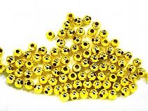 - Kov.korálky 4mm-zlatá-30ks - 1172136