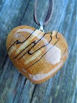 Náhrdelníky - Klenové srdce - 1172210