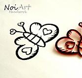Drobnosti - Razítko motýľ - 1172437