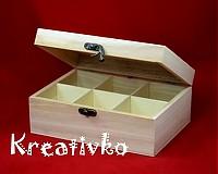 - Čajová krabica: 6-priehradková (antický uzáver) - 1172704