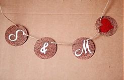 Tabuľky - Na svadobné fotenie - reťaz s iniciálmi - 1174185