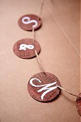 Tabuľky - Na svadobné fotenie - reťaz s iniciálmi - 1174187