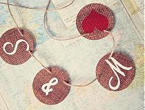 Tabuľky - Na svadobné fotenie - reťaz s iniciálmi - 1174188