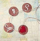 Tabuľky - Na svadobné fotenie - reťaz s iniciálmi - 1174189