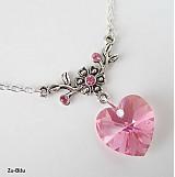 Náhrdelníky - Ružové srdiečko - 1177186