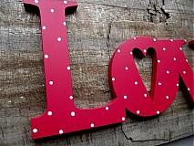Tabuľky - Love nápis 30cm - 1177352