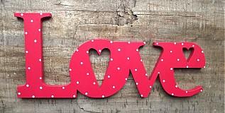 Tabuľky - Love nápis 30cm - 1177353