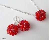 Sady šperkov - Červená súprava - 1184084