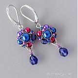 Náušnice - Náušničky Blueberries & Cranberries... - 1187965