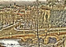 Fotografie - Séria zimná Nitra, Nový most na hrad - 1188909