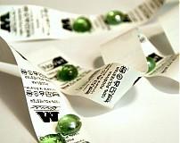 Materiál ručne robený - Textilná etiketa 3x3 cm sada 100 ks - 1196711