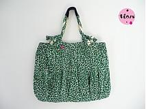 Iné tašky - Zelený leopard /  Zľava  - 1197225