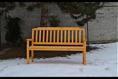 Nábytok - žlutá lavička - 1197565