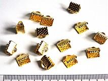 - Konc.na stužku š8x6mm-zlatá-1ks - 1202105