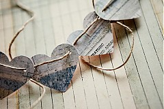 - Na svadobné fotenie - reťaz so srdiečkami - 1205905