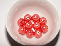 - Vosk.perly 8mm-ruž.sýta-10ks - 1214394