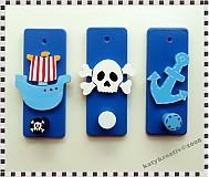 Nábytok - sada vešiakov malého piráta - 1214820