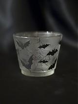 Svietidlá a sviečky - Svietnik na čajovú sviečku - Bats silhouettes - 1220536