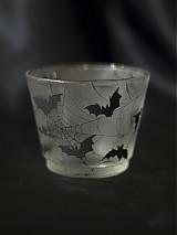 Svietidlá a sviečky - Svietnik na čajovú sviečku - Bats silhouettes - 1220538