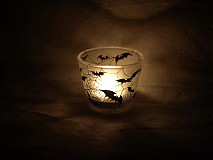 Svietidlá a sviečky - Svietnik na čajovú sviečku - Bats silhouettes - 1220552