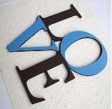 nápis LOVE 15cm