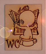 Tabuľky - bejby na wc - štítok na toaletu - 1230986