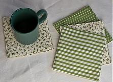 Úžitkový textil - Podšálky zelené - 1240523