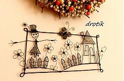 Dekorácie - chalúpka so strašiakom v záhrade:o) - 1247844