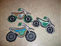 Materiál ručne robený - motorka ( nažehľovačka-aplikácia) - 1250604