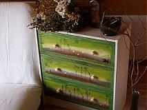 Nábytok - Maľovaná komoda - Odkaz lesa - 1251532