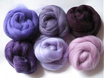 - Sada Merino - fialová 60 g - 1255817
