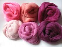 - Sada Merino - ružová 60 g - 1255930