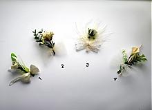 Svadobné pierka krémové