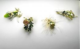 Pierka - Svadobné pierka krémové - 1263947