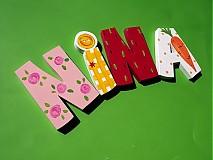 Tabuľky - drevené písmenká - 1269680