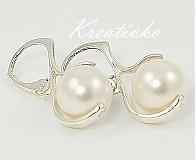 - Perlové náušnice - White - 1271608