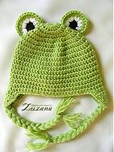 Detské čiapky - Mini žabka - 1273686